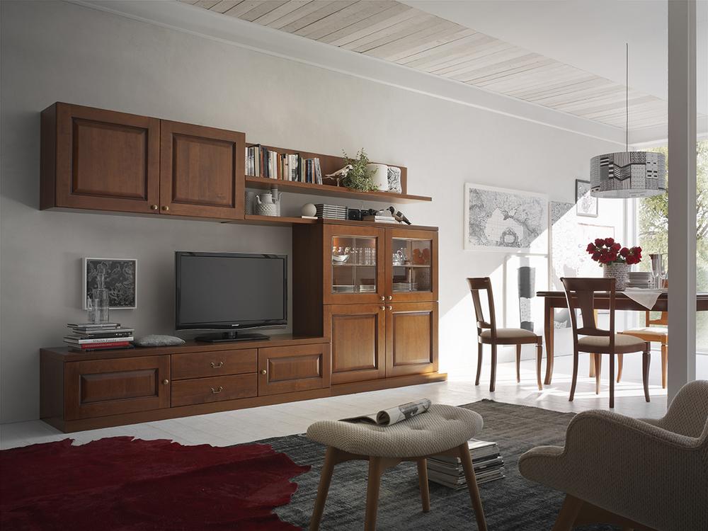 Arredamento Classico Modena.Soggiorno Classico In Noce Mod Asolana
